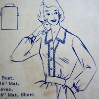 """Size 14 Vintage 1950s Sewing Pattern Fashion 5178 Ladies Dress Bust 34"""" Used"""