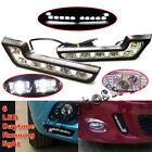 LED Super White Car Driving Lamp Fog Universal 2X Drl Daytime Running Light 6