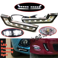 LED Super White Car Driving Lamp Fog Universal 2X Drl Daytime Running Light 6