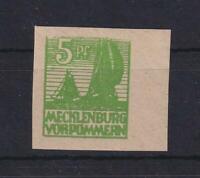 SBZ 32 yb 5 Pfg. seltene Farbe schwärzlichgelblichgrün postfrisch FA Kramp(xs223