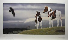 "Glenn OLSON ""Wings & Wonder"" LTD art print mint COA Horse plains Golden Eagle"