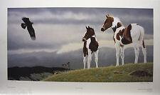 """Glenn OLSON """"Wings & Wonder"""" LTD art print mint COA Horse plains Golden Eagle"""