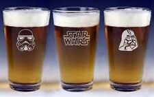 Star Wars pint beer Glasses groomsman wedding or birthday gift Engraved   FREE