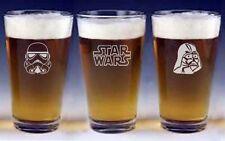 Star Wars pint beer Glasses groomsman wedding or birthday gift Engraved   FREE