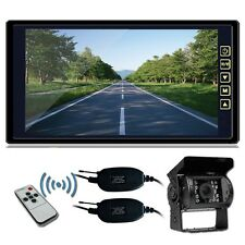 """Wireless IR Rear View Back up Camera Night Vision System+9"""" Monitor for RV Truck"""