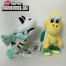 2X Super Mario 3D World Plush Koopa Troopa Parabones Soft Toy Doll Teddy 7.5""