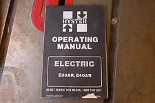 Hyster E30ar E40ar Electric Forklift Owner Operator Operation Manual Book Guide