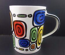 Starbucks Mug Hand Painted Geometric Rare 2009 Blue Peindre a Main Pour  4