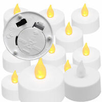 10 X Flicking AMBER Mood Color Flameless Led Lights Candle Tea Light Candles