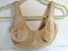 MOVING COMFORT 38B Beige Bra Underwire Non Padded Full Coverage