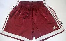 RARE! Adidas Satin Nylon Soccer Shorts MAROON MEDIUM (RARE COLOR)