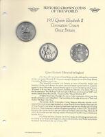 Historic Coins the World Great Britain 1953 5 Shillings UNC Elizabeth Coronation