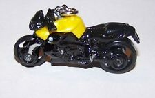 CUSTOM MADE..BMW K 1300 R MOTORCYCLE (BLACK/YELLOW-GOLD) KEYCHAIN..GREAT GIFT!