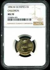 1996-W $5 Olympics Cauldron Gold Commemorative MS70 NGC 2728856-003