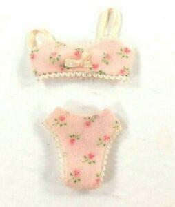 Barbie Vintage Pink Floral Bra w/ Matching Panties