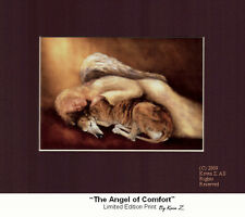 Greyhound Angel of Comfort  Signed Art Print Memorial Artist Kevin Z Arttogo