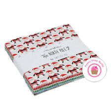 """NORTH POLE Moda  STACY ISET HSU Quilt Fabric CHARM PACK 42 5""""  Squares CHRISTMAS"""