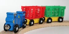 Genuine Melissa & Doug Train with Red and Green Carts VGUC