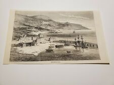 View The Port of Nice France c. 1860 Engraving