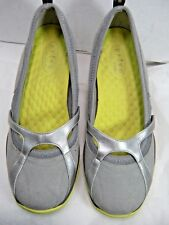 Privo by Clarks Womens Shoes Size 8 M Cushioned Insole Gray Silver Yellow #B