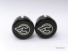 cinelli black Plugs Caps guidon tapones bouchons lenker vintage style flat New