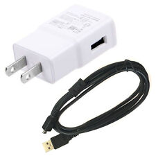 AC/DC Wall Battery Power Charger Adapter + USB Cord for Kodak Easyshare M1093 IS