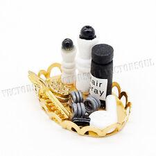 1:12 Hairdressing Hair Salon Set Plate Miniature Toy Dollhouse Decor Beauty Gift