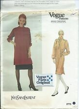 Vogue 2773 sewing pattern DRESS TUNIC SKIRT & Paris LABEL sew Yves Saint Laurent