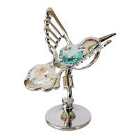 Crystocraft Hummingbird Crystal Ornament With Swarovski Elements Gift Boxed