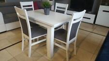 SET of extending dining table and 4 solid wood chairs white, small&great!!Kam02