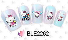 BLE2263 2259 adesivi unghie KITTY SANRIO tattoo Stickers water nail art decals