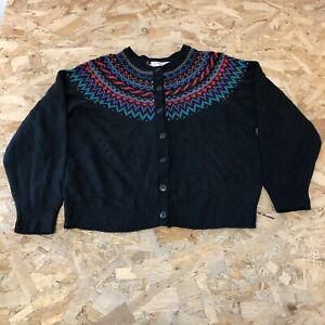 Woens Vintage Dorothy Perkins Cardigan S Small Black B6063