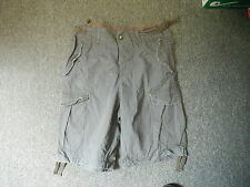 """Unknown Green Combat Shorts Waist 36"""" Length 10"""" Green Faded Mens Shorts"""