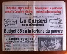 Le Canard Enchaîné 17/10/1984; Budget 85; A la fortune du pauvre