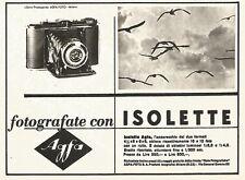 W9209 Fotografate con Isolette AGFA - Pubblicità del 1940 - Vintage advertising
