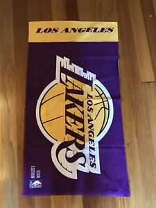 "Los Angeles Lakers NBA Authentics Icon Edition Purple Gold White 40""x21"" Towel"