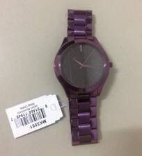 Michael Kors Slim Runway Plum-tone Ladies MK Watch 42mm MK3551
