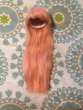Doll Fairyland Minifee Company Wig in Light Pink Long with Bangs Size 7