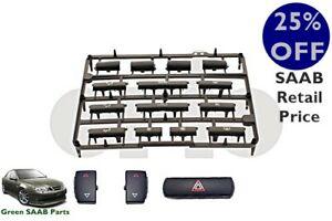 SAAB 9-3 (03>06) Heater Control Panel Button Kit Non Heat Seat, New Genuine Part