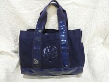 Tory Burch Navy Blue Ella Tote XL