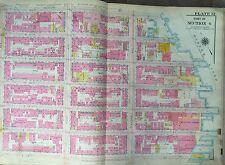 1914 Bromley Manhattan E. Harlem Original Map Atlas Second - Harlem River 22X36