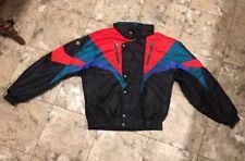 DESCENTE Ski Coat Jacket Retro Color Block Jacket Black Red Green Blue Large