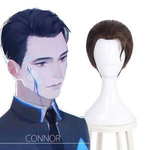 Detroit: Become RK800 Connor Cosplay Wig Short Straight Brown Men's Full Wigs