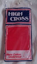 Men's High Cross Cotton Red Vest Small