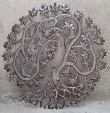 "Metal Tree of Life Tropical Metal Wall Art Haitian Artist Wall Hangings Size 24"""