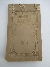 1914 HOUSEHOLD CALENDAR by Barse & Hopkins