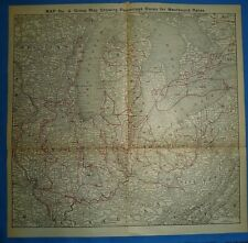 1922 RAILROAD Map ~ NEW YORK - CHICAGO PERCENTAGE TERRITORY WESTBOUND IN USA