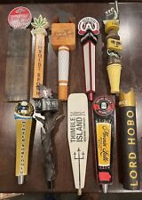 Lot of 10 Craft beer tap handles - used