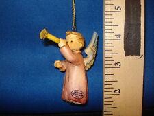 Hummel A Joyful Noise Angel Ornament German Porcelain 3 inches #1319 Cab 2