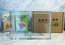 ARK-10D DUAL Clear Acrylic Display Box Sealed Case Pokemon WoTC-Era Theme Decks